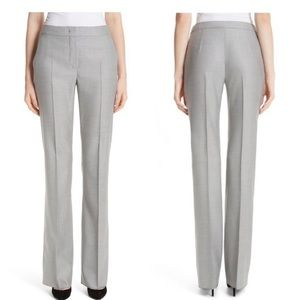 MaxMara grey wool and silk dress pants